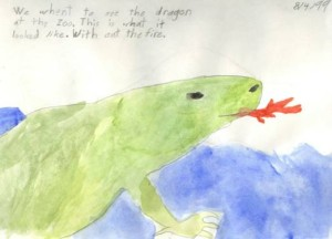Child's page: Lizard