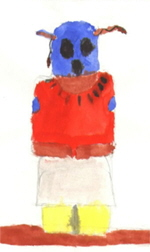 Memory Painting of O'Keeffe's Indian Doll